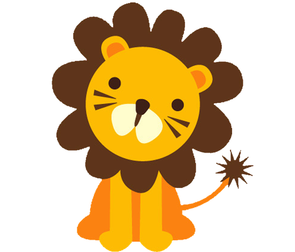Baby safari animals clip art.