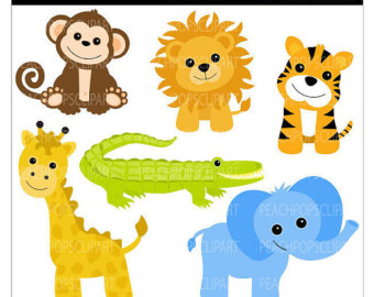 Baby Jungle Animals Clipart.