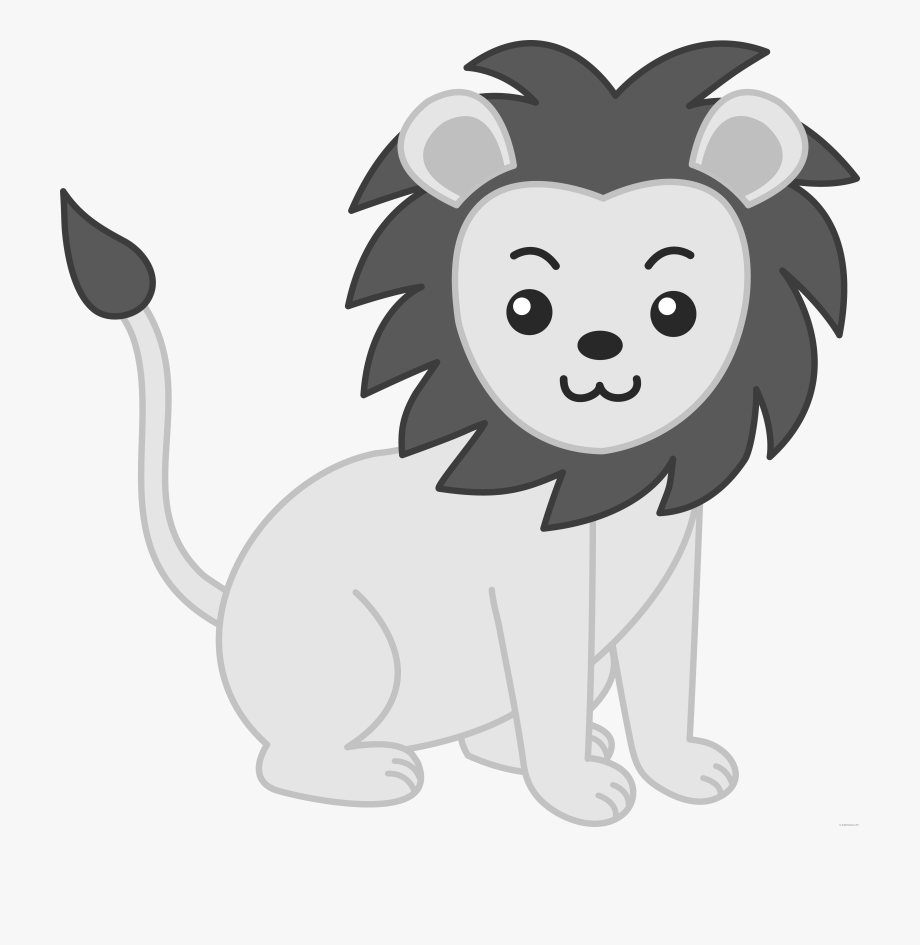 Baby Animal Clipart Black And White.