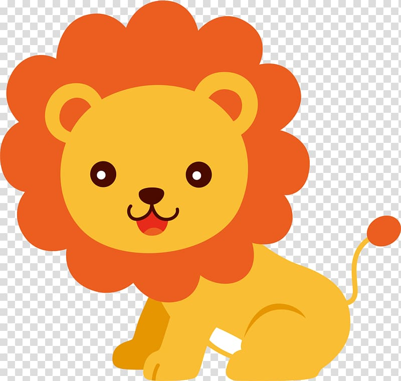 Lion Cuteness , baby animals transparent background PNG.
