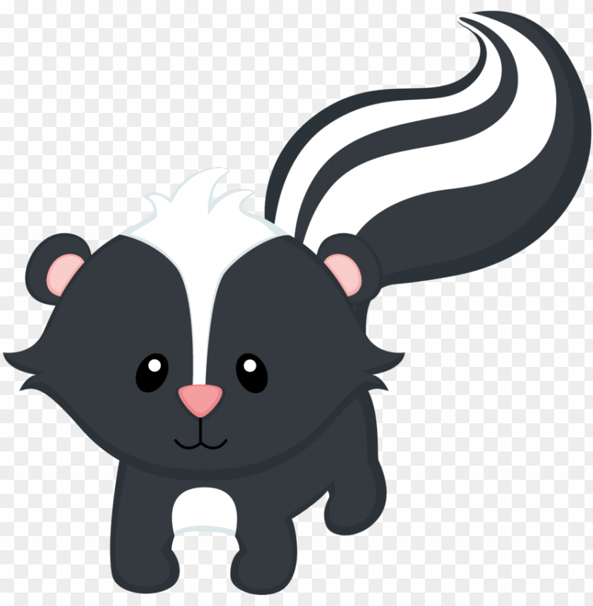 woodland skunk baby animals clipart.