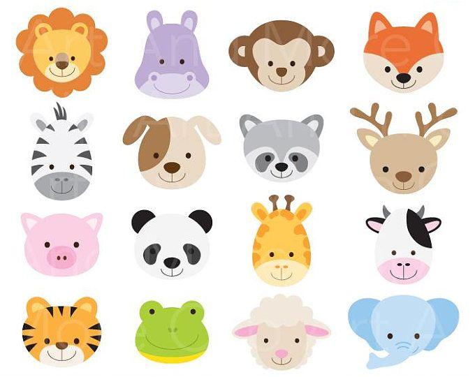 Cute Animals Digital Clipart.