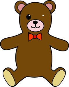 Teddy Bear Colorable Line Art Baby Animal Pictures PNG, SVG.