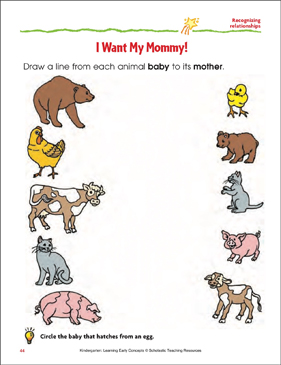 I Want My Mommy!: Matching Animal Babies to Their Mothers.