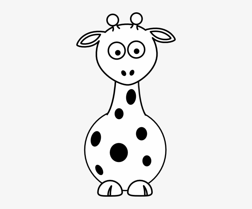 Baby Giraffe Clip Art Black And White.