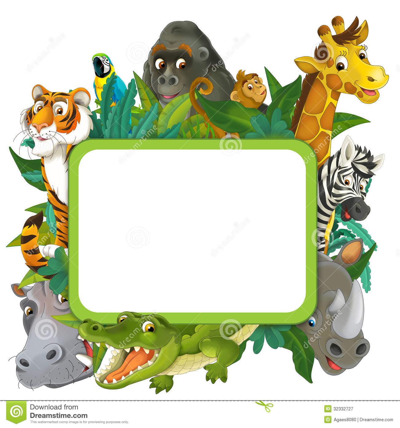 Cartoon Jungle Animals Clipart.