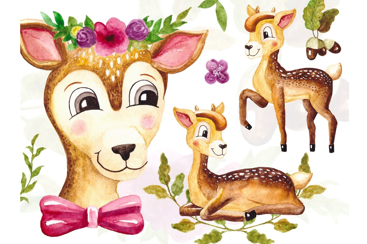 Baby Deer Clipart Animal Png.