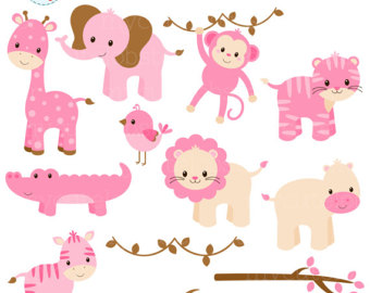 590 Safari Animals free clipart.