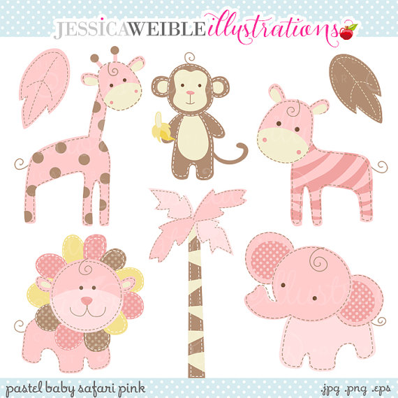 Baby Girl Animal Clipart.