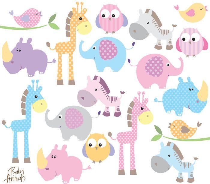 Baby Animal Clipart Clip Art Cute Little Animals Baby Shower.