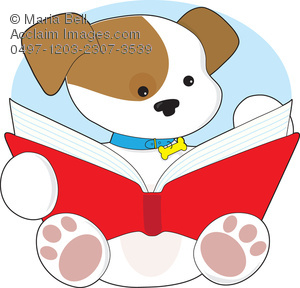 Animal Reading A Book Clipart.