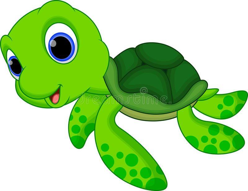 Cute turtle cartoon. Illustration of cute turtle cartoon.
