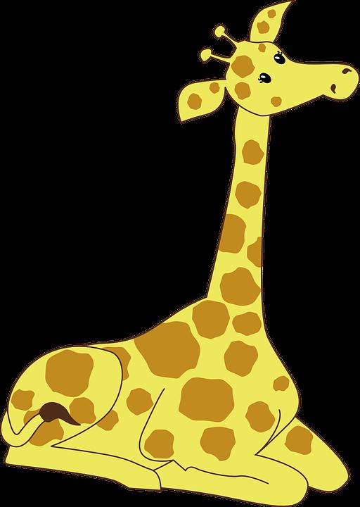 Giraffe clipart swimming, Giraffe swimming Transparent FREE.
