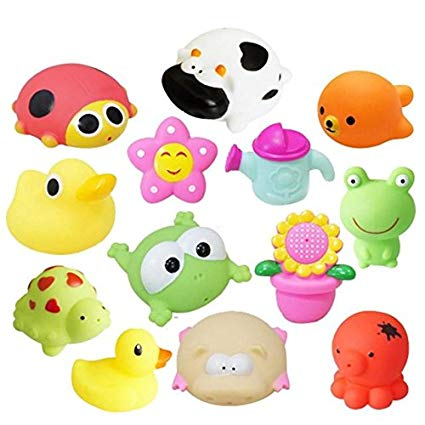 Amazon.com: MyToy Animals Child Baby Kids Bath Toy Soft.