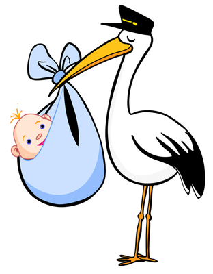 Free Clip Art for Birth Announcements.
