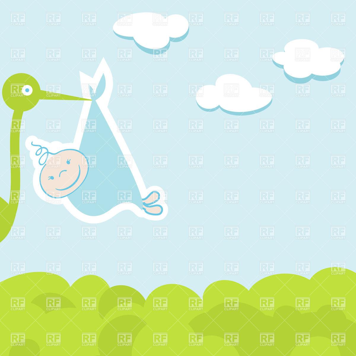 Baby Boy Announcement Clipart.