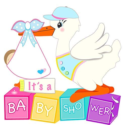 Amazon.com : Cute News Baby Shower Stork Yard Sign.