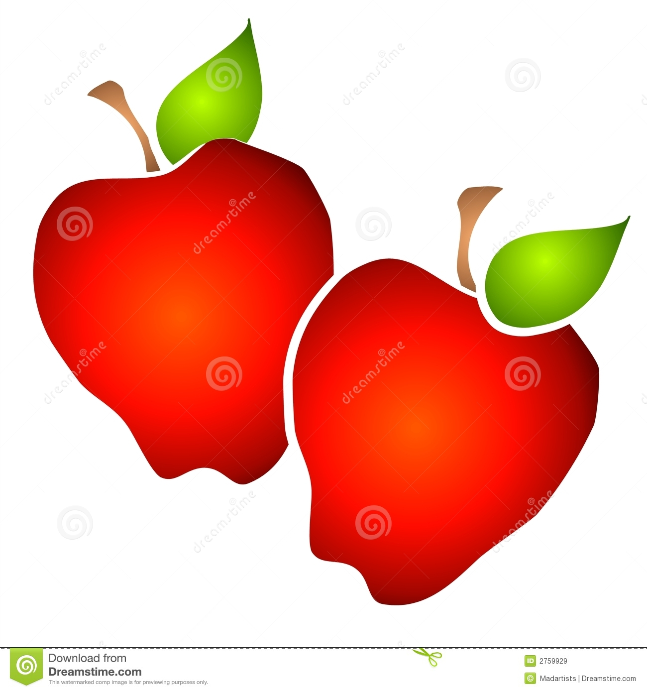 Royalty free apple clipart.