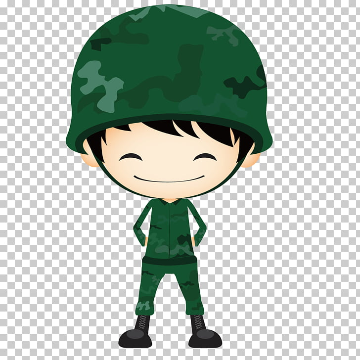 Army Soldier , Cute soldier, male soldier illustration PNG.