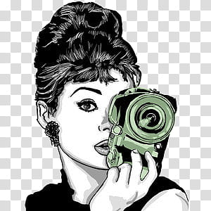 Monitas Lindas, Audrey Hepburn animation illustration.
