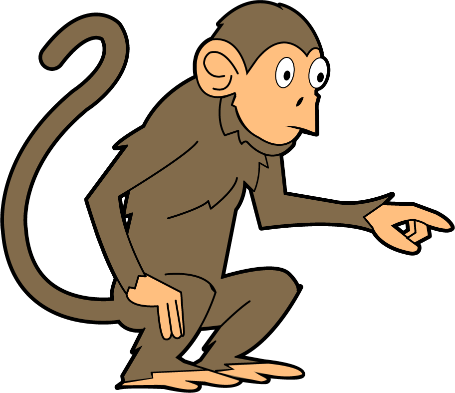 Baboon clipart without background.