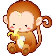 Cartoon Baby Monkey.