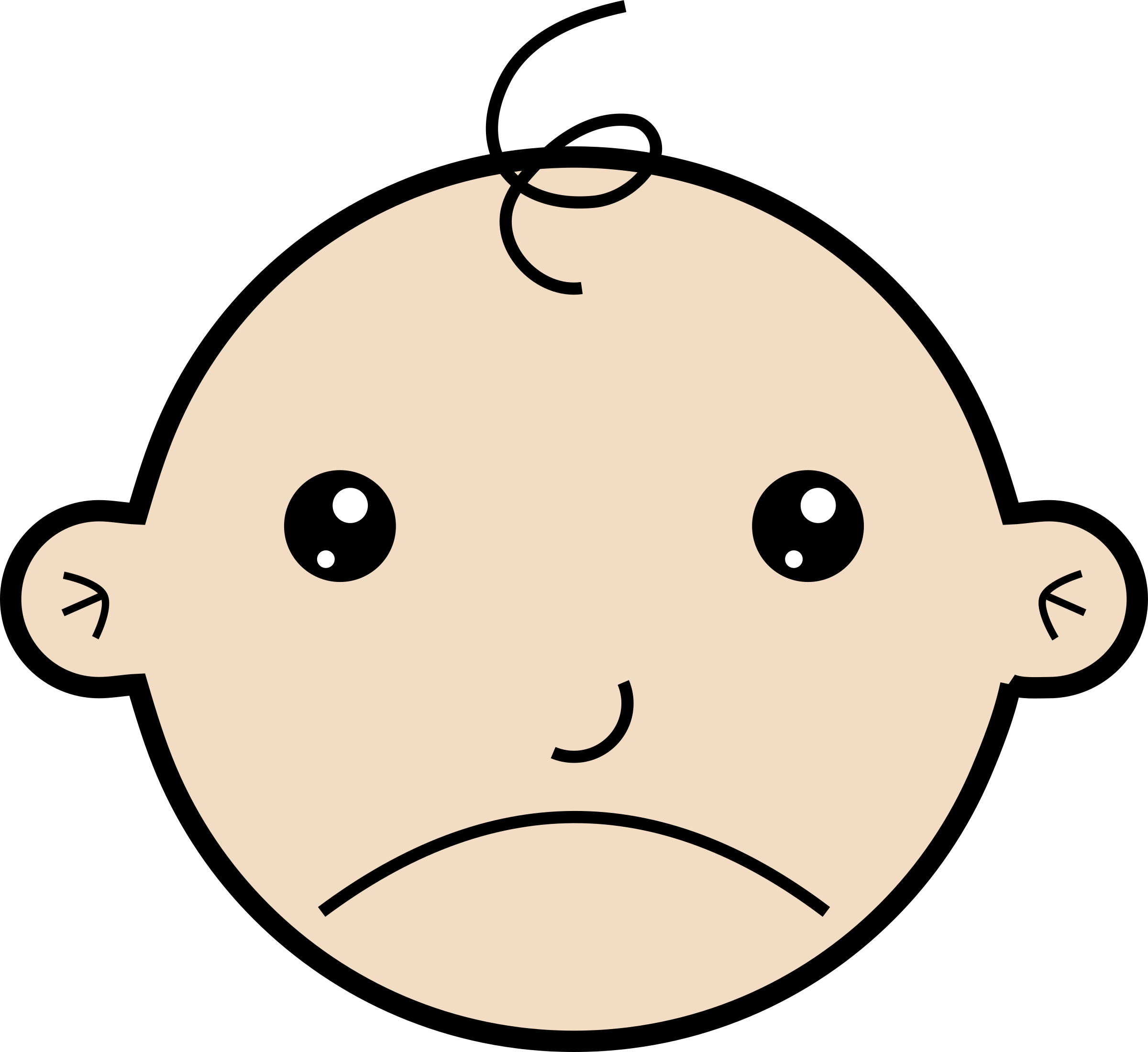 Infant clipart baby face, Infant baby face Transparent FREE.
