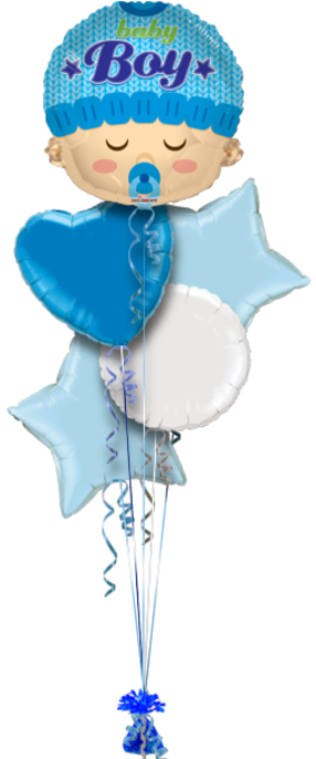 Baby Boy Head Shape New Baby Balloon Delivery.