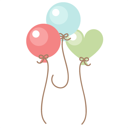 Baby Balloons SVG scrapbook cut file cute clipart files for.