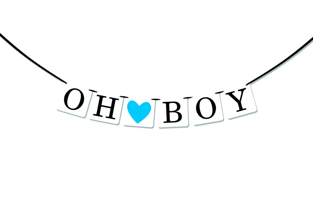 Boy Baby Shower Banner.
