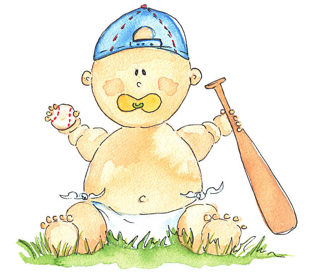 Baby Baseball Clip Art, Vector Images & Illustrations.