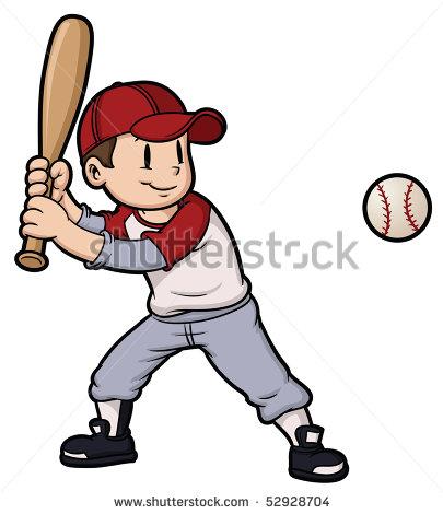 Child Baseball Player Clipart.