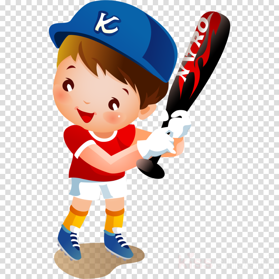 cartoon baseball player baseball team sport clipart.