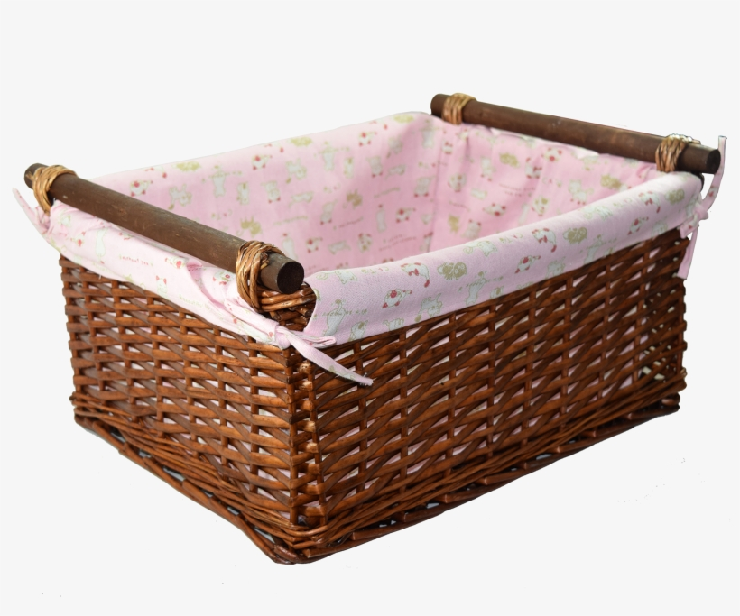 Baby Girl Wicker Basket.