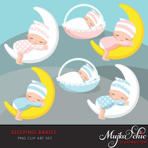 Baby Clipart. Pink and blue baby graphics. Baby Shower, new.