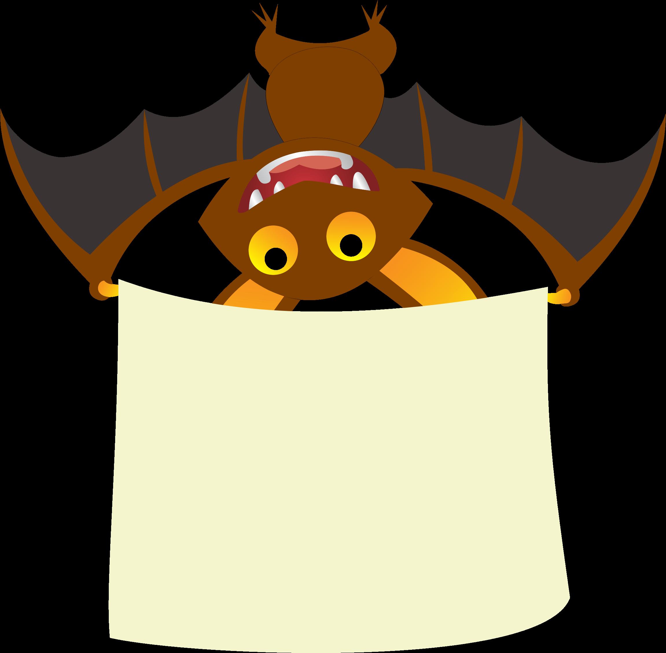 Bat Banner Vector Clipart image.