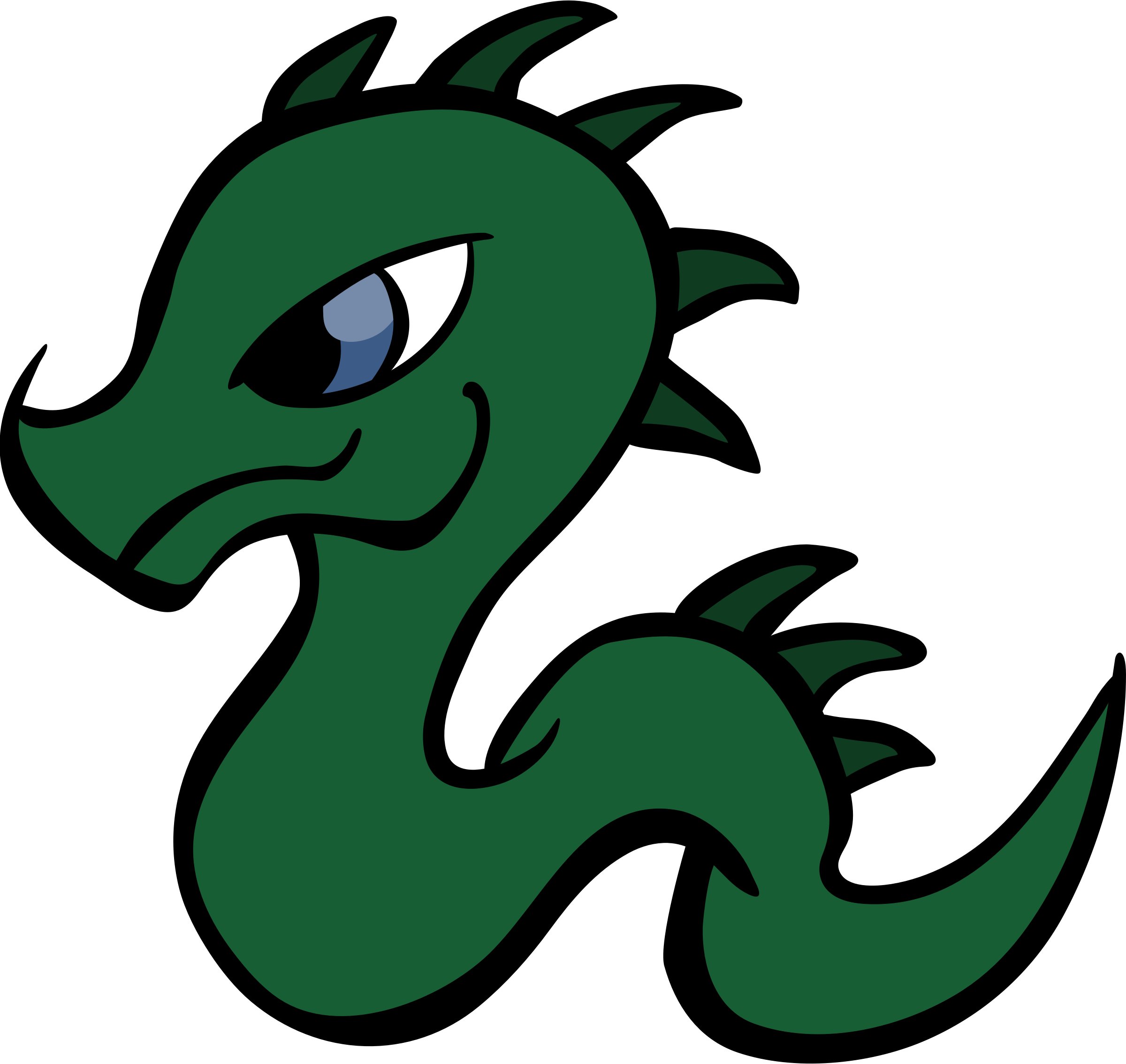 Baby Dragon Vector Clipart image.