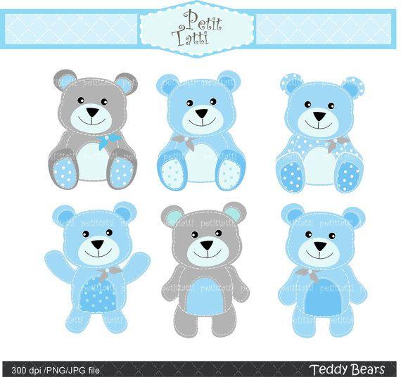 Digital clip art Teddy bears 4stitch teddy bear clip by.