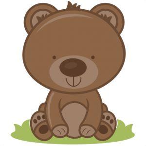 Baby bear clip art.