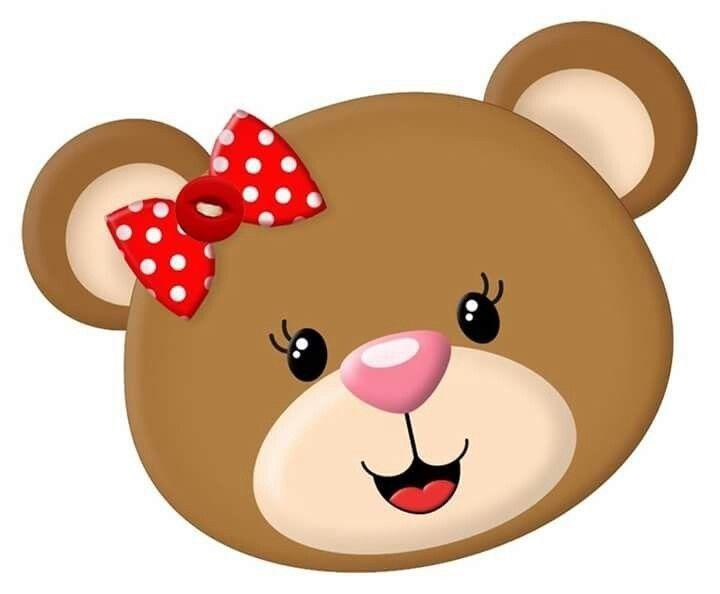 Female bear cartoon.
