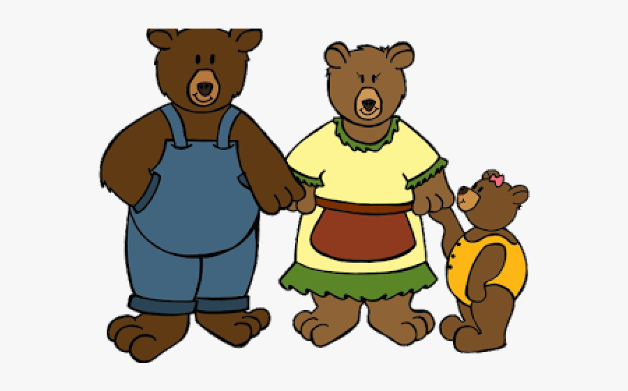 3 Bears Cartoon Goldilocks , Free Transparent Clipart.