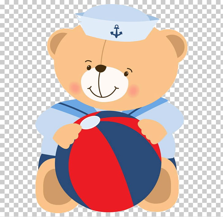 Sailor Bear Teddy bear , baby , bear holding ball.