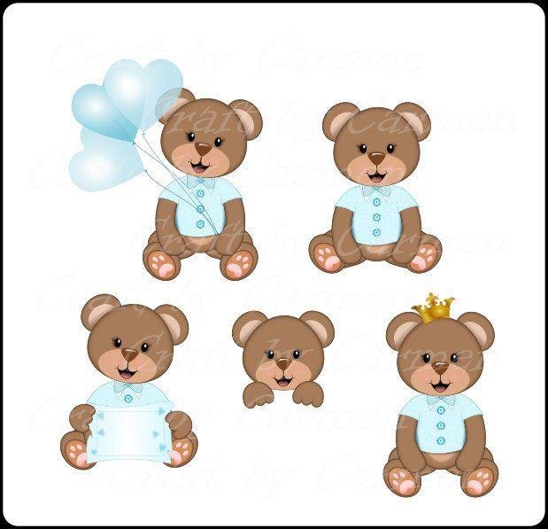 Teddy bear clip art, cute, bear, baby bears, digital art.