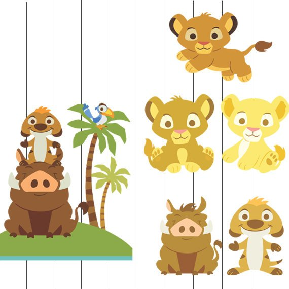 Baby Lion King Clip art, Baby Lion King SVG, Lion King baby.
