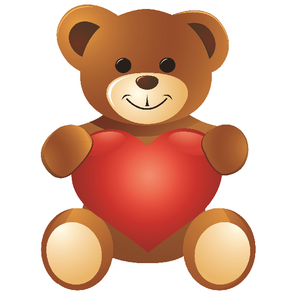 Image result for standing valentine\'s day teddy bear clipart.