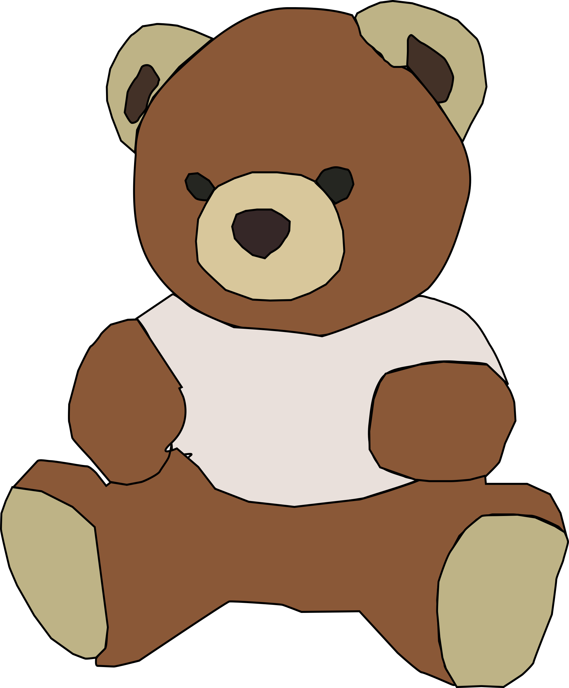 Clipart bear standing, Clipart bear standing Transparent.