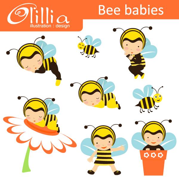 Baby Bee Clipart.
