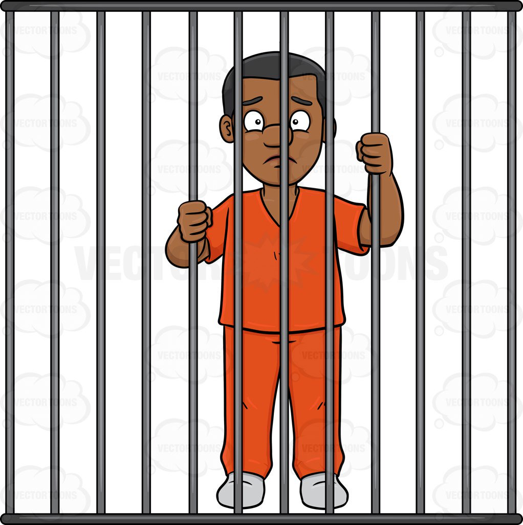 Clipart Person Behind Bars.