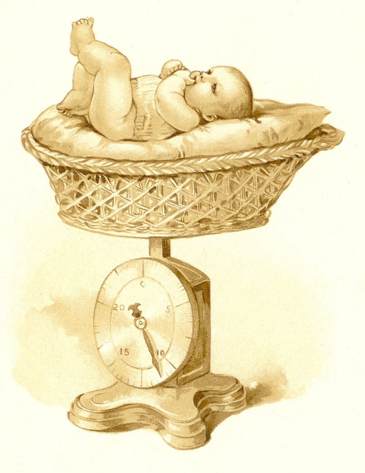 Free Vintage Baby Images.