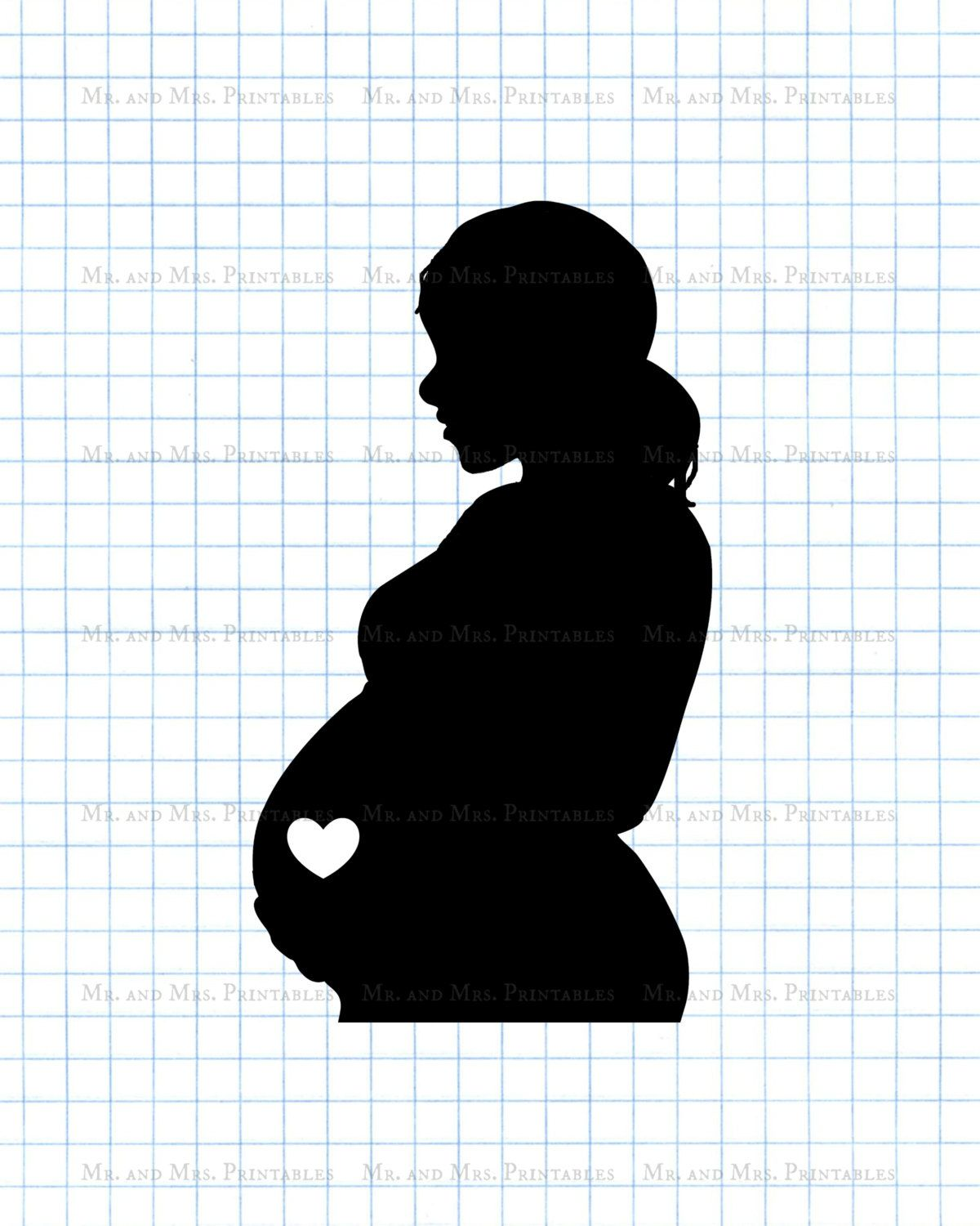 Pregnant clipart, pregnancy image, scrapbook images,belly silhouette.